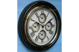 5 Zone Time Roman World Wall Clock