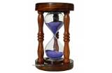 """Sand Timer( Hour Glass)-15 Minutes Pure Shesham wood """"VIOLET SAND"""""""