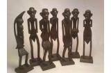Wooden African Tribal Set