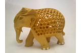 Wooden Carbon Elephant